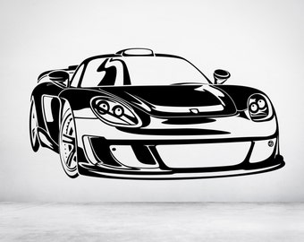 Porsche Carrera GT. Vinyl wall art decal sticker. Any color and size. (#51)