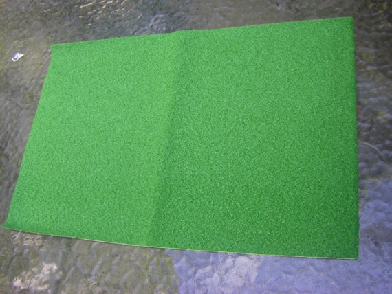 Fairy garden grass artificial grass sheet for by for Faux grass for crafts