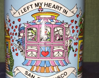 1986 I Left My Heart In San Francisco California Colorful Pride Coffee Mug
