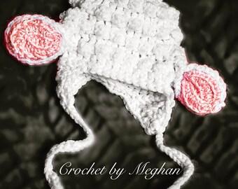 Little Lamb Newborn Hat Photo Prop Handmade Crochet