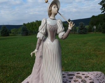 "Lladro Spain #5324 ENGLISH LADY with Parasol 10.25"" Figurine by Jose Puche..RETIRED!!"