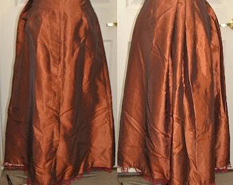 Small Victorian Copper Taffeta Skirt - Ready to Ship
