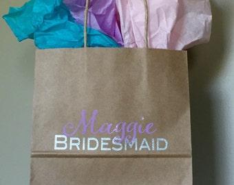 Bridal Party Gift Bag, Bridesmaid Gift, Wedding Party Gift, Thank You Gift Bag, Bridesmaid Gift Bag