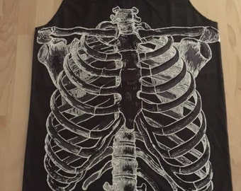 Skull Punk Rock Fashion T-Shirt Vest Tank Top