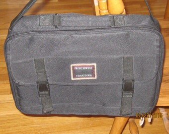 Vintage 80's Computer Messenger Black Bag