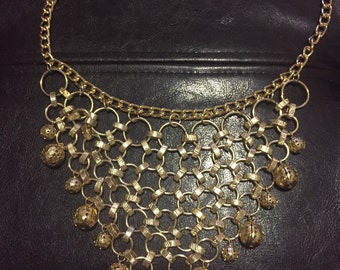 Layered gold vintage necklace