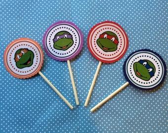 Ninja Turtle Cupcake Toppers