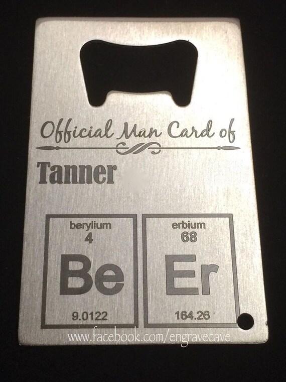 metal bottle opener wallet card man card father 39 s day. Black Bedroom Furniture Sets. Home Design Ideas
