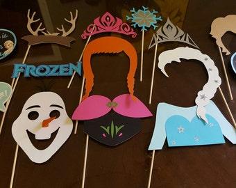 Frozen photo booth props / Frozen theme props