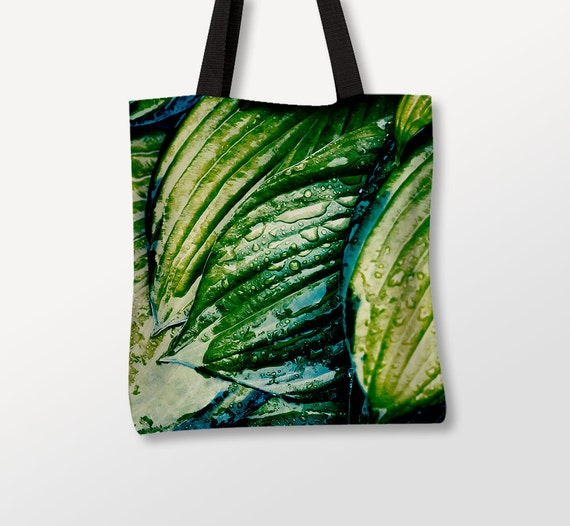Tropical Tote, Green Leaves Bag, Nature Photography, Tote Bag