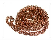 1 metre Small Link Chain, Antique Copper finish, loose chain, antique copper chain, jewellery chain, plated metal chain