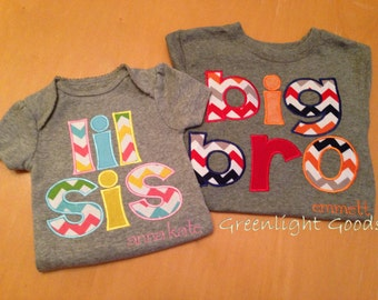 1- Personalized Big / Little Sister / Brother shirt