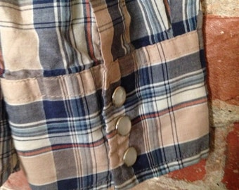 Vintage Blair Western Pearl Snap Shirt Medium/Large
