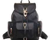 School bags, girl's backpack, leather travel bag