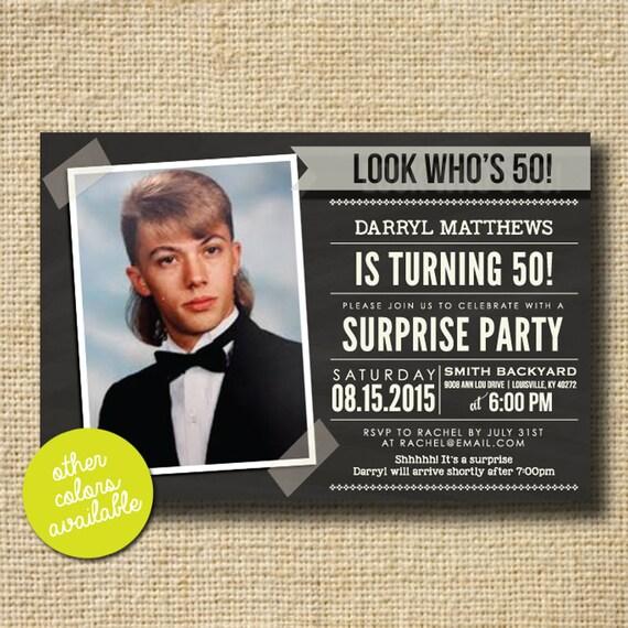Modern Milestone Surprise Birthday Party Invite By