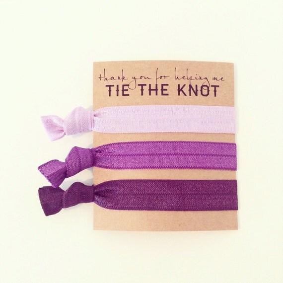 Purple Ombre Hair Tie Bridesmaid Gift | Purple Ombre Hair Tie Bridesmaid Gift, Eggplant Plum Royal Purple Violet Lavender Lilac Hair Ties