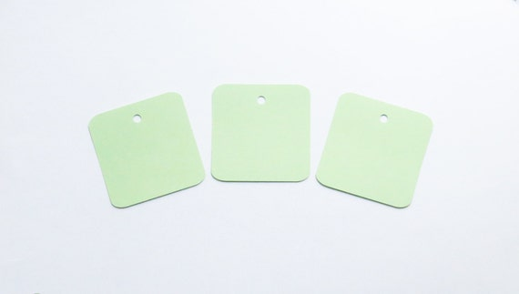50 mint green square die cut tags 2 quot inch diecut rounded gift tag