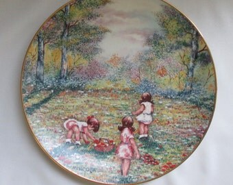 Vintage Calhouns Collectors Society Collector Plate Picking Flowers by  Mingolla