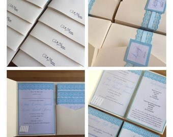 30 Lace Pocketfold Invitation