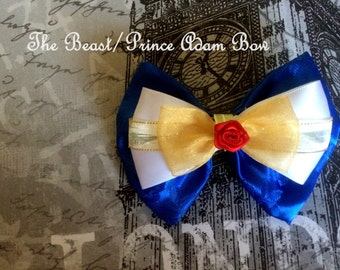 The Beast/Prince Adam(Beauty and the Beast) Inspired Bow