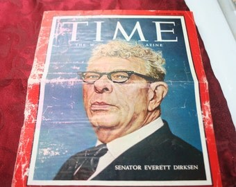 Time Magazine Cover 1962 Senator Everett Dirksen