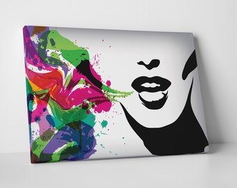 Singing Colors. Gallery Wrapped Canvas Print