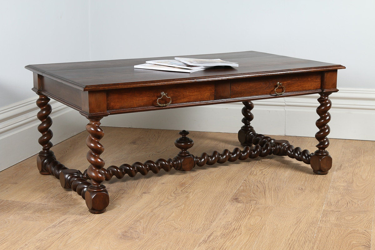 Antique French Provincial Walnut Coffee Table Circa 1850 Haute Juice