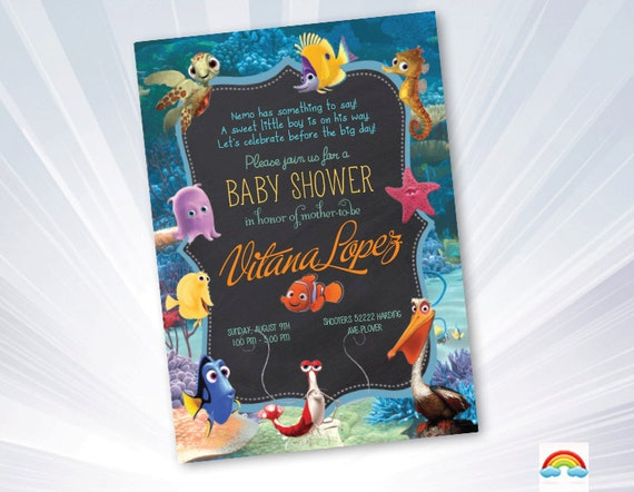 finding nemo baby shower baby shower invitation finding nemo
