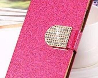 Hot Pink Galaxy S6 Rhinestone Bling Phone Case