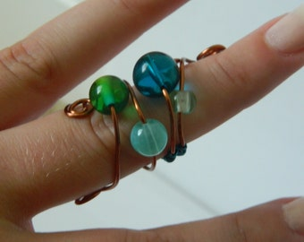 Swirled Wire Wrapped Ring