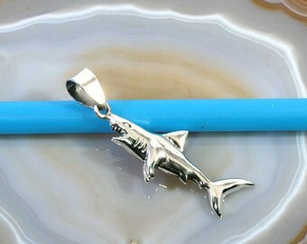 Shark, shark, pendant, 925 sterling silver-hai, shark, pendant, 925 sterling silver-4171
