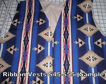 Southwestern Style, Native American Ribbon Vest
