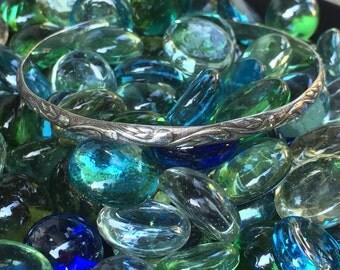 Ocean Waves Sterling Silver Cuff Bracelet