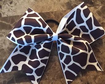 Animal Print Cheer Bow!