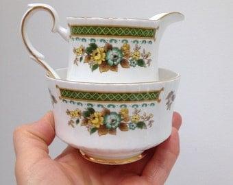 Reduced - Royal Standard milk/creamer and sugar bowl bone china