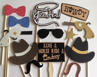 Western props, Wild West PhotoBooth Prop Pack, cowboy, cowgirl, western, country