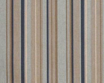 Premier Stripe Indigo/Laken by Premier Prints - Drapery Fabric