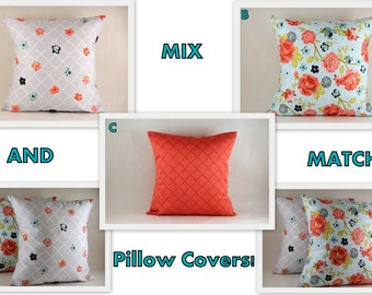 Mix and Match Pillow Covers, Discount Price for 2, 3. Pillow Cover available in 1 6 x 16 or 18 x 18