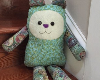 Green and teal Whimsy Bear