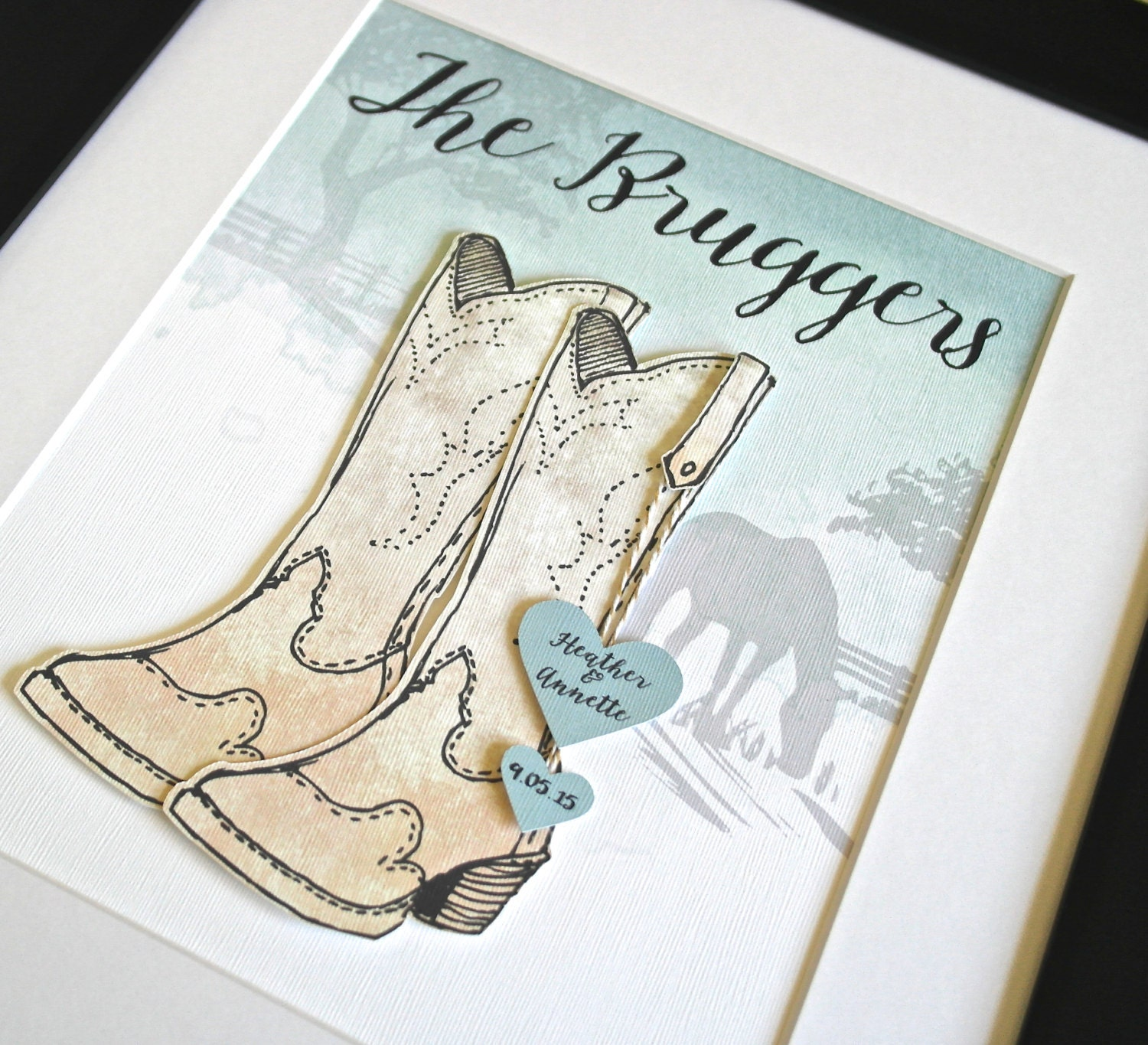 Country Wedding Gift Ideas: Unique Wedding Gift Country Wedding Gift Cowboy Wedding