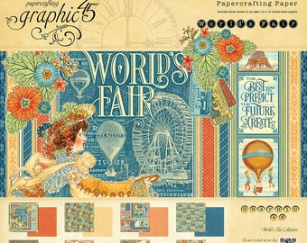 Graphic 45 World's Fair 12x12 Paper Pad, SC007535