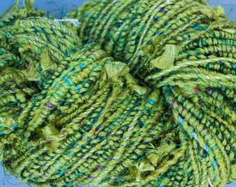 Green glitter rewind yarn
