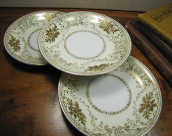 Vintage Empress China - Coronation - Saucers - Set of Three (3) - Made in Japan