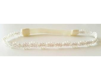 Ivory Pearl Headband,