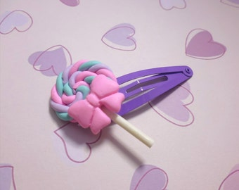 Kawaii Lollipop Hair Clip
