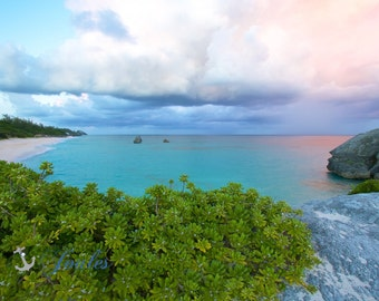 Long Bay Cliffs ~ Bermuda, Sunset, Ocean, Beach Photography, Coastal, Tropical, Turquoise Waters, Home Decor, Artwork, Fine Art Photography