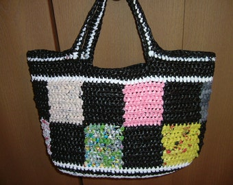 Large Tote Bag - made from PLARN (yarn made from plastic bags)