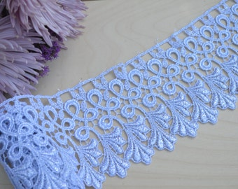 "Pomepia's Silver Metallic Lace 4"" Intricate Design and Leaf Motif. Regality"