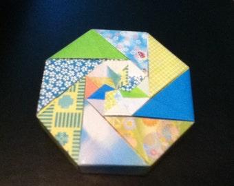 Joyful Blue and Green Origami Box