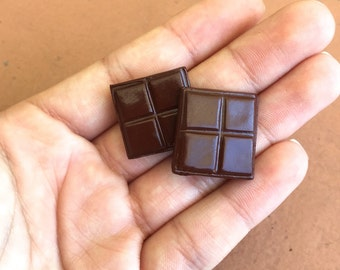 Pair of Chocolate magnets, miniature food
